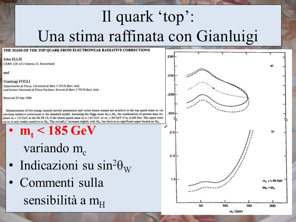 Il quark 'top': Una stima raffinata con Gianluigi