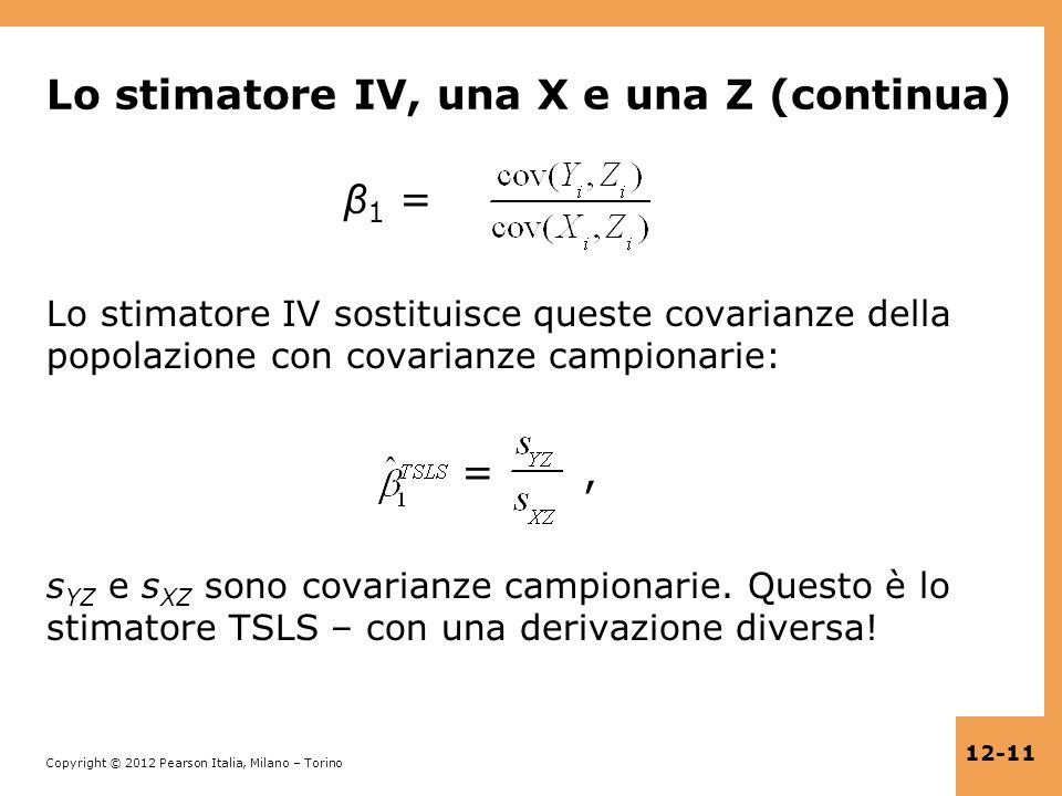 Lo stimatore IV, una X e una Z (continua)