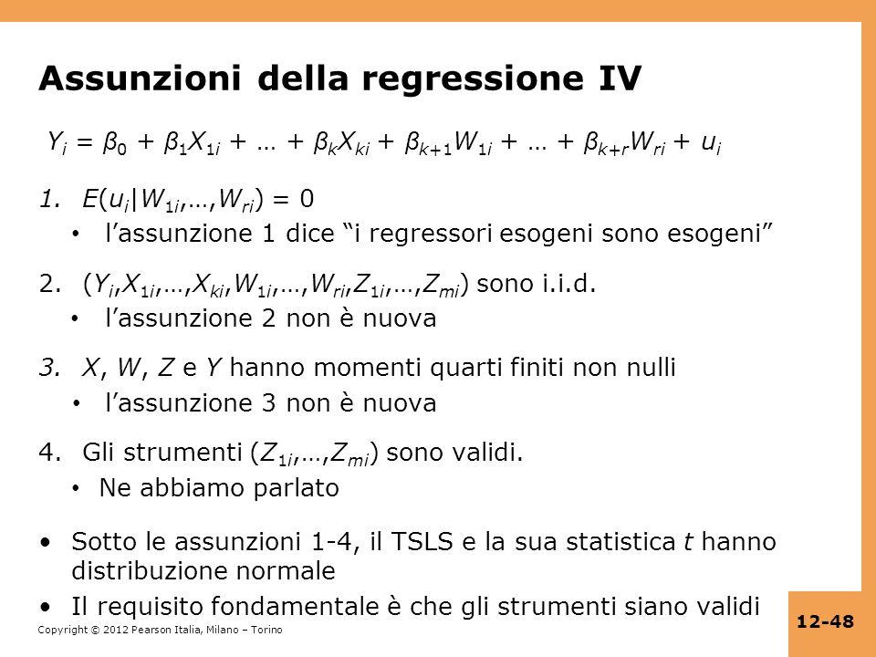 Assunzioni della regressione IV