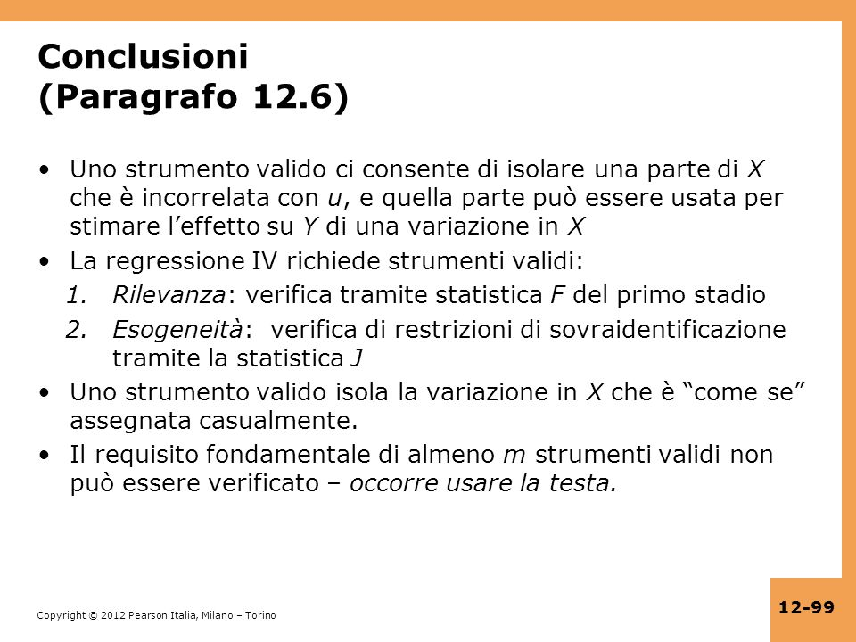 Conclusioni (Paragrafo 12.6)