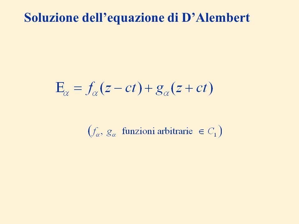 Soluzione dell'equazione di D'Alembert