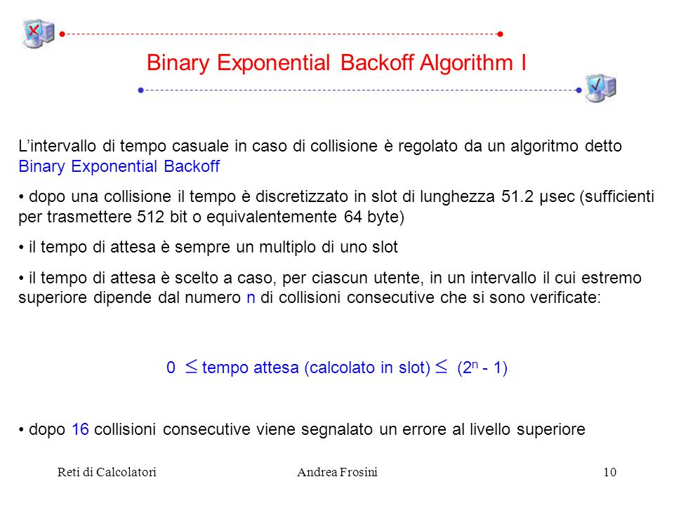 Binary Exponential Backoff Algorithm I