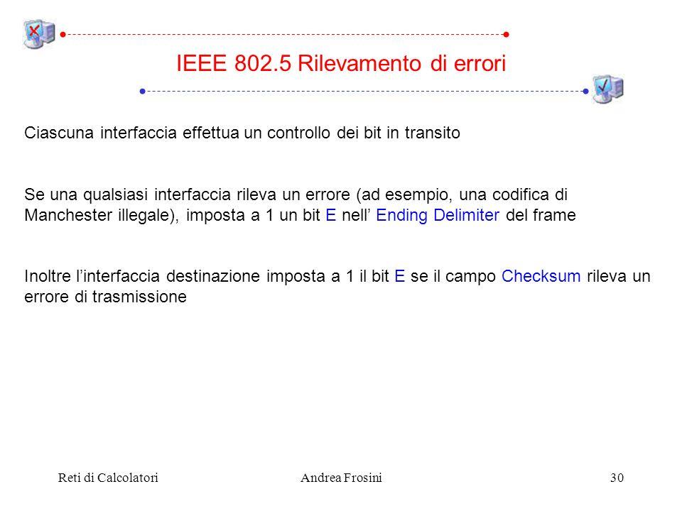IEEE 802.5 Rilevamento di errori