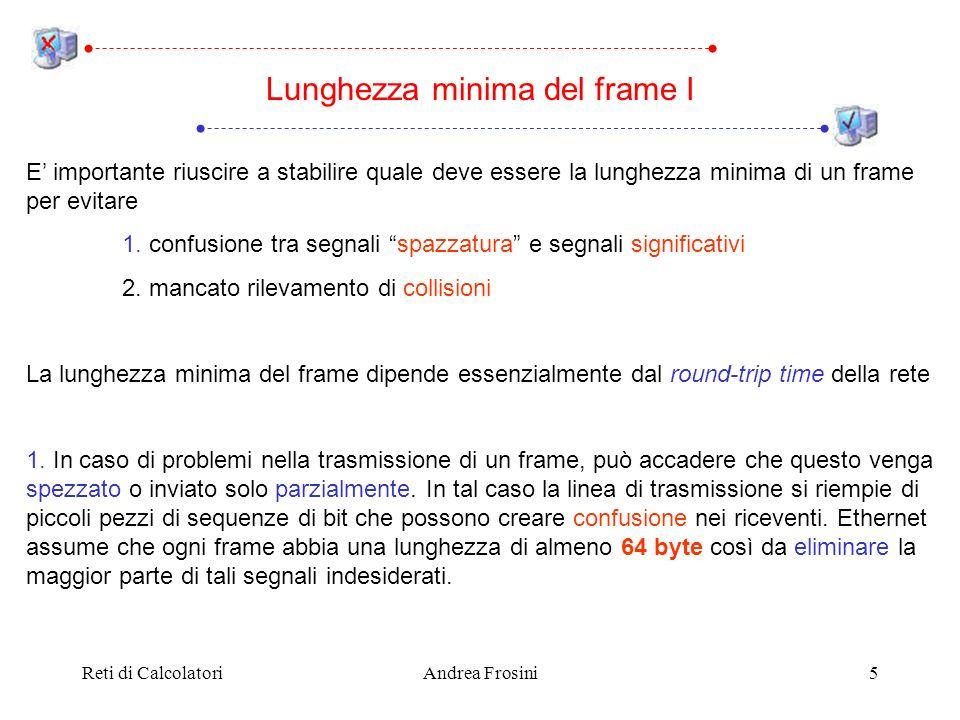Lunghezza minima del frame I