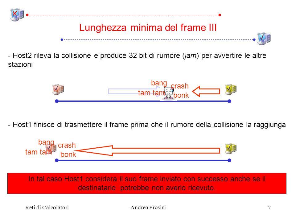 Lunghezza minima del frame III