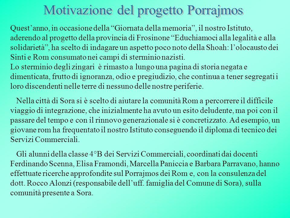 Motivazione del progetto Porrajmos