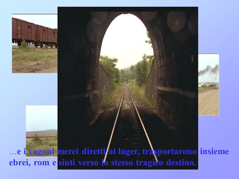 …e i vagoni merci diretti ai lager, trasportarono insieme ebrei, rom e sinti verso lo stesso tragico destino.