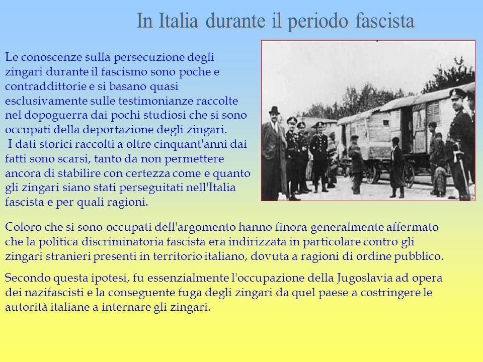 In Italia durante il periodo fascista