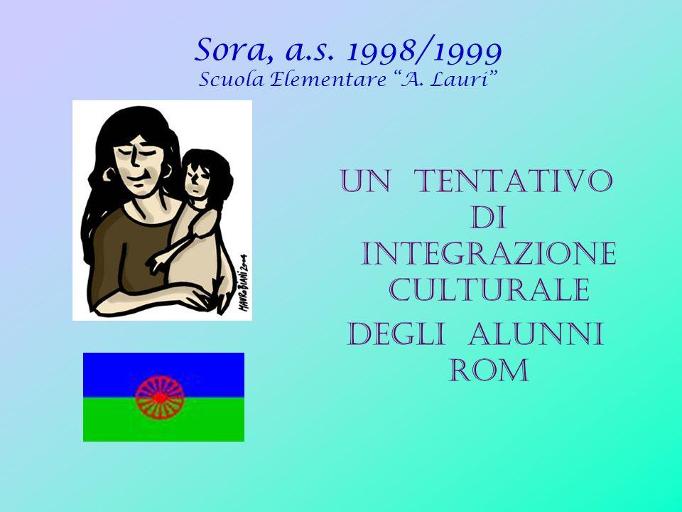 Sora, a.s. 1998/1999 Scuola Elementare A. Lauri