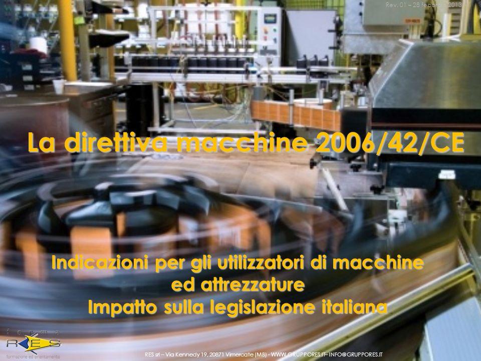 La direttiva macchine 2006/42/CE