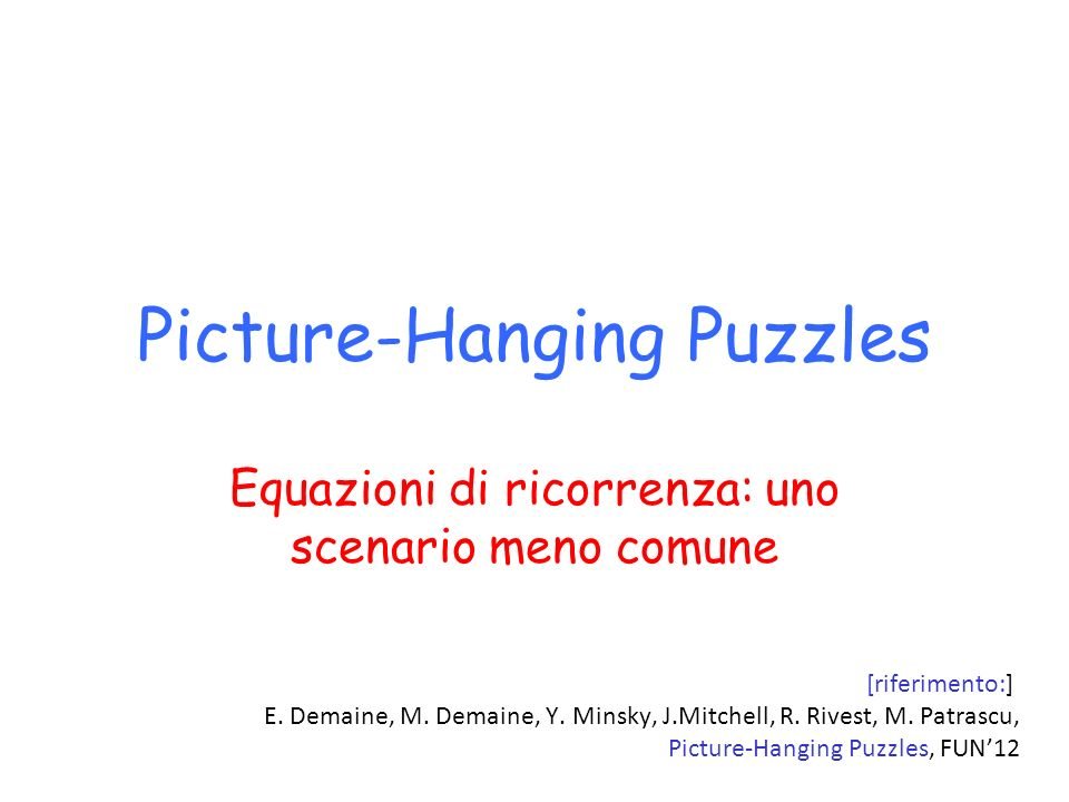 Picture-Hanging Puzzles