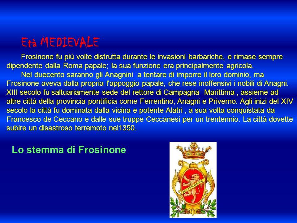 Età MEDIEVALE Lo stemma di Frosinone