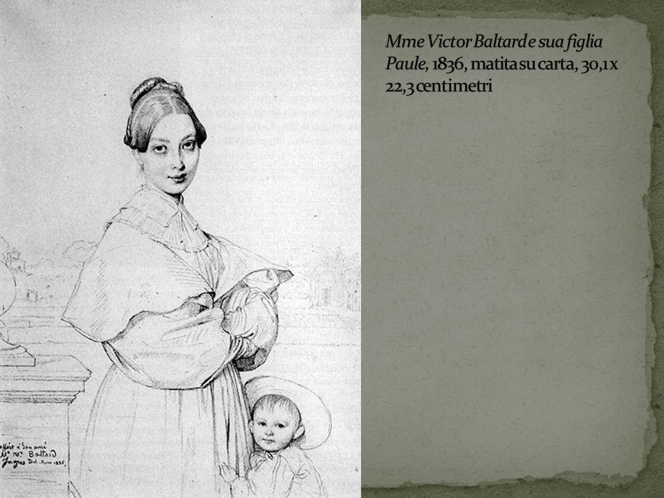 Mme Victor Baltard e sua figlia Paule, 1836, matita su carta, 30,1 x 22,3 centimetri