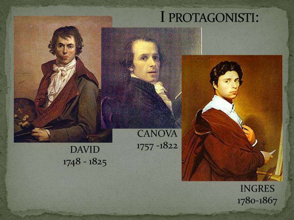 I protagonisti: CANOVA 1757 -1822 DAVID 1748 - 1825 INGRES 1780-1867