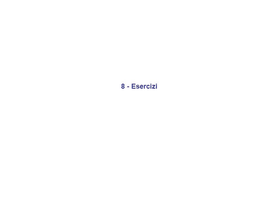 8 - Esercizi