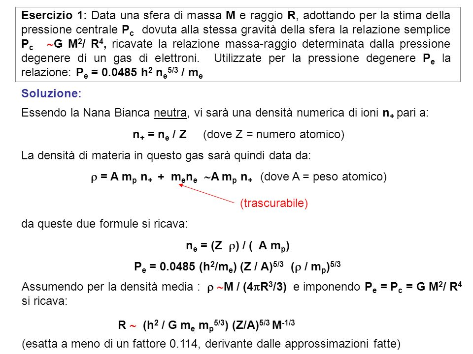 Pe = 0.0485 (h2/me) (Z / A)5/3 ( / mp)5/3