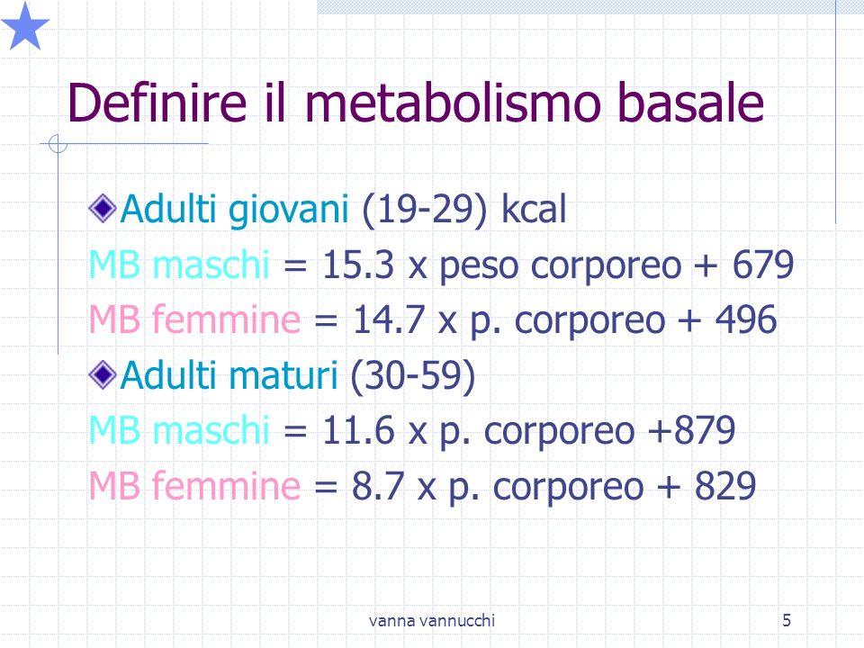 Definire il metabolismo basale