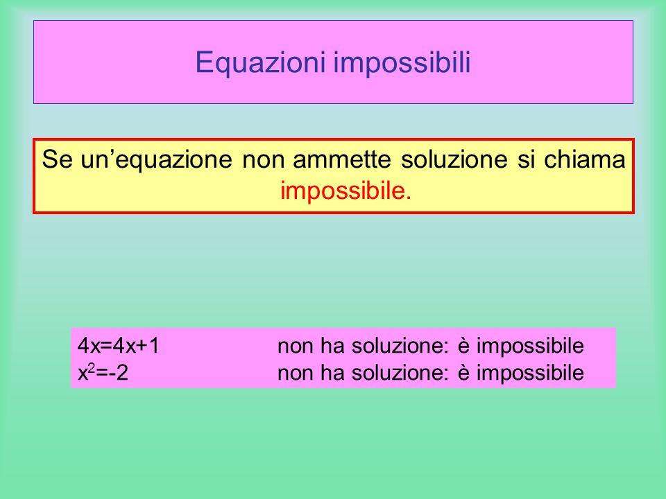 Equazioni impossibili