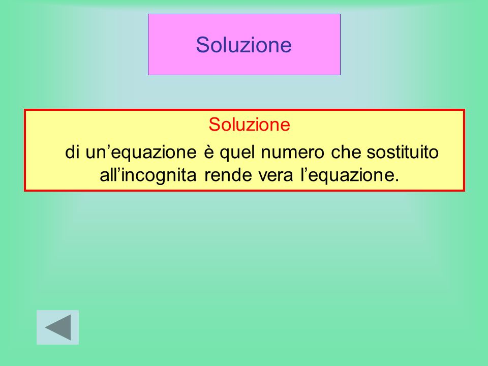 Soluzione Soluzione.