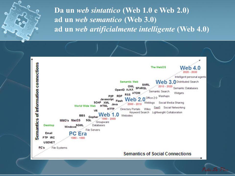 Da un web sintattico (Web 1. 0 e Web 2. 0) ad un web semantico (Web 3