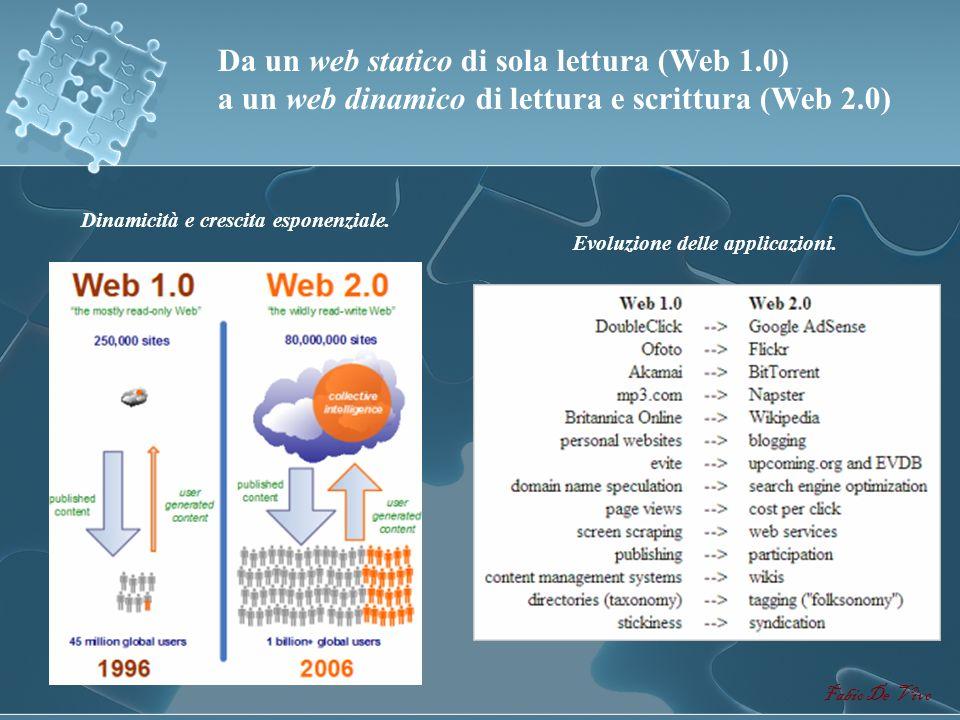 Da un web statico di sola lettura (Web 1.0)