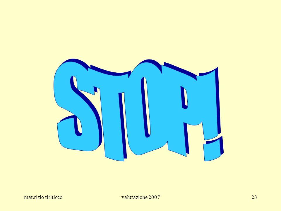 STOP! maurizio tiriticco valutazione 2007