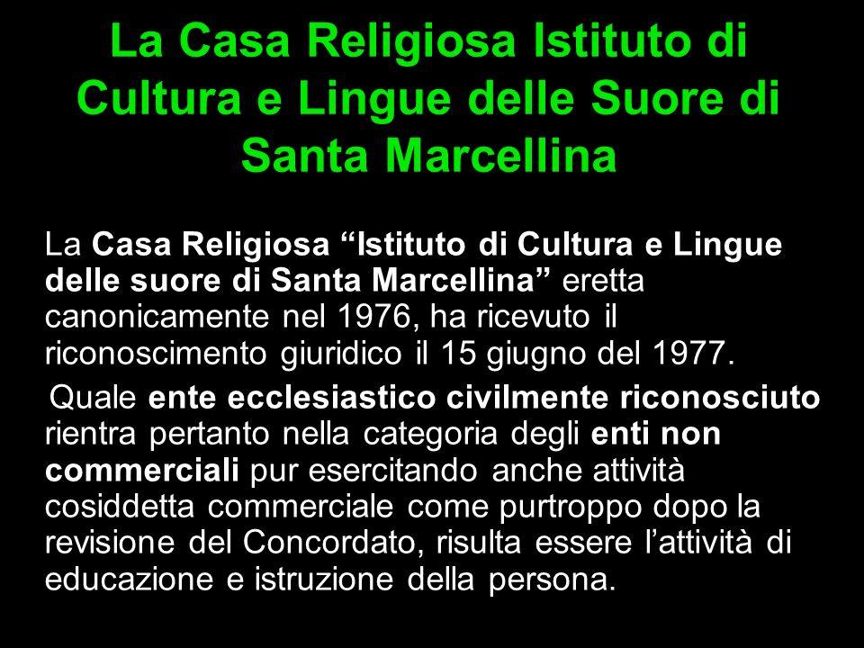 La Casa Religiosa Istituto di Cultura e Lingue delle Suore di Santa Marcellina