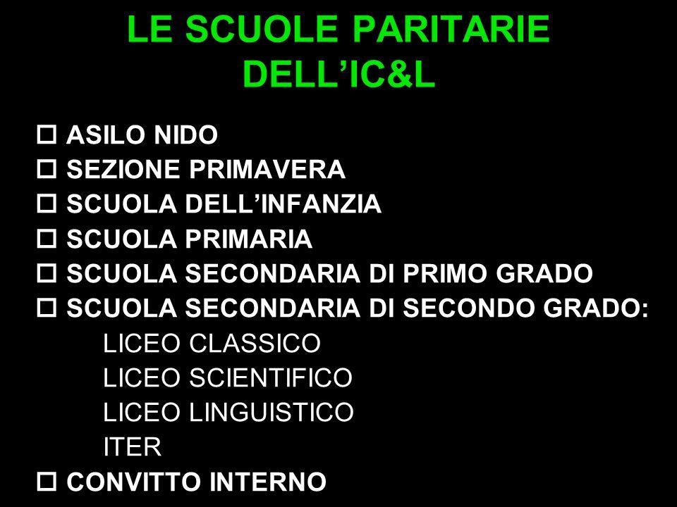 LE SCUOLE PARITARIE DELL'IC&L