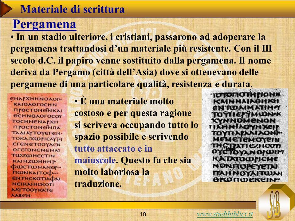 Pergamena Materiale di scrittura
