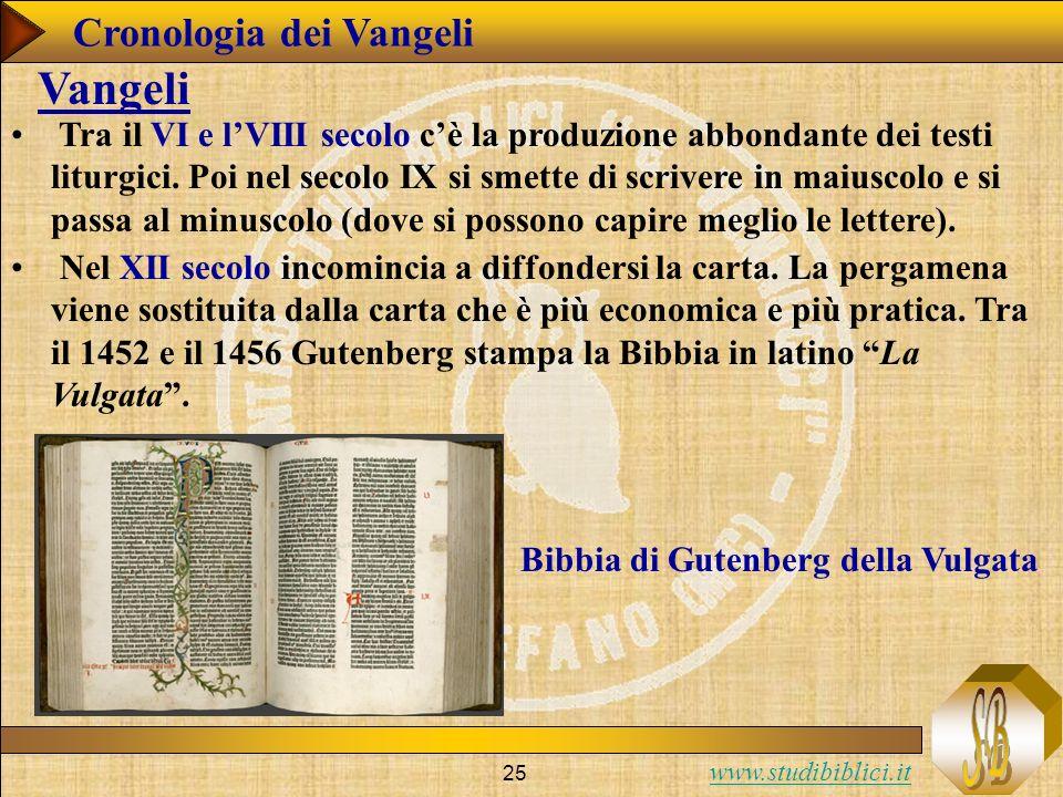 Vangeli Cronologia dei Vangeli