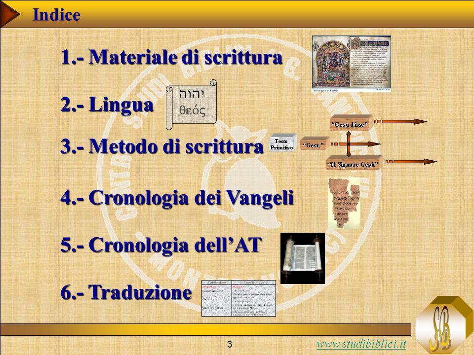 1.- Materiale di scrittura