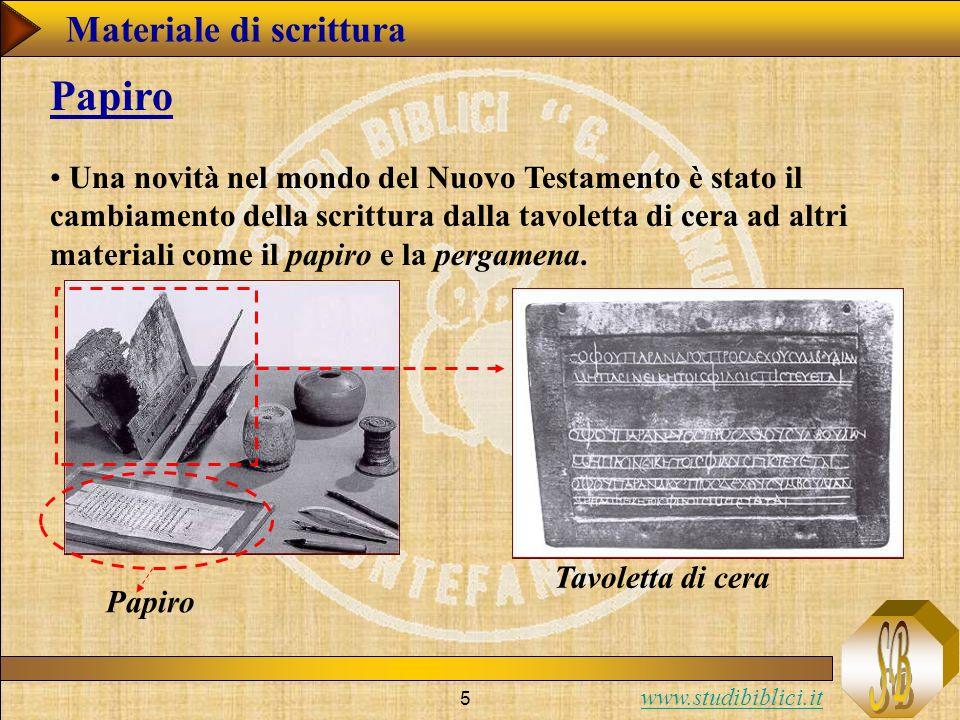 Papiro Materiale di scrittura
