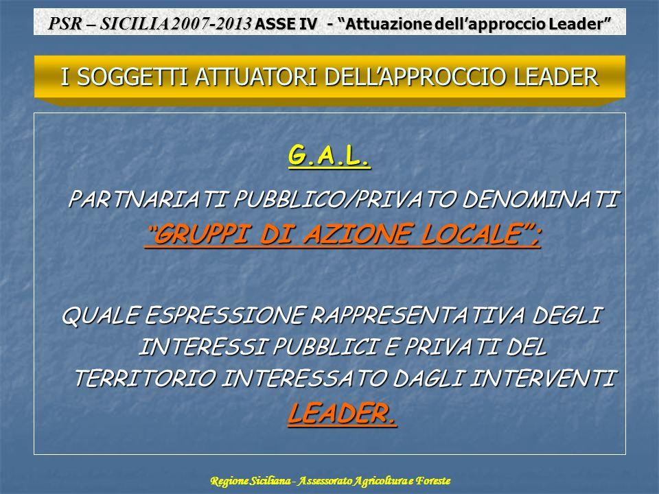G.A.L. I SOGGETTI ATTUATORI DELL'APPROCCIO LEADER