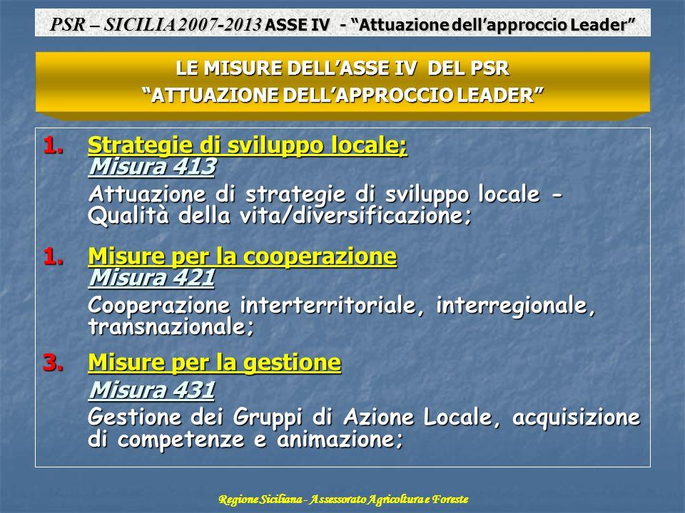 Strategie di sviluppo locale; Misura 413