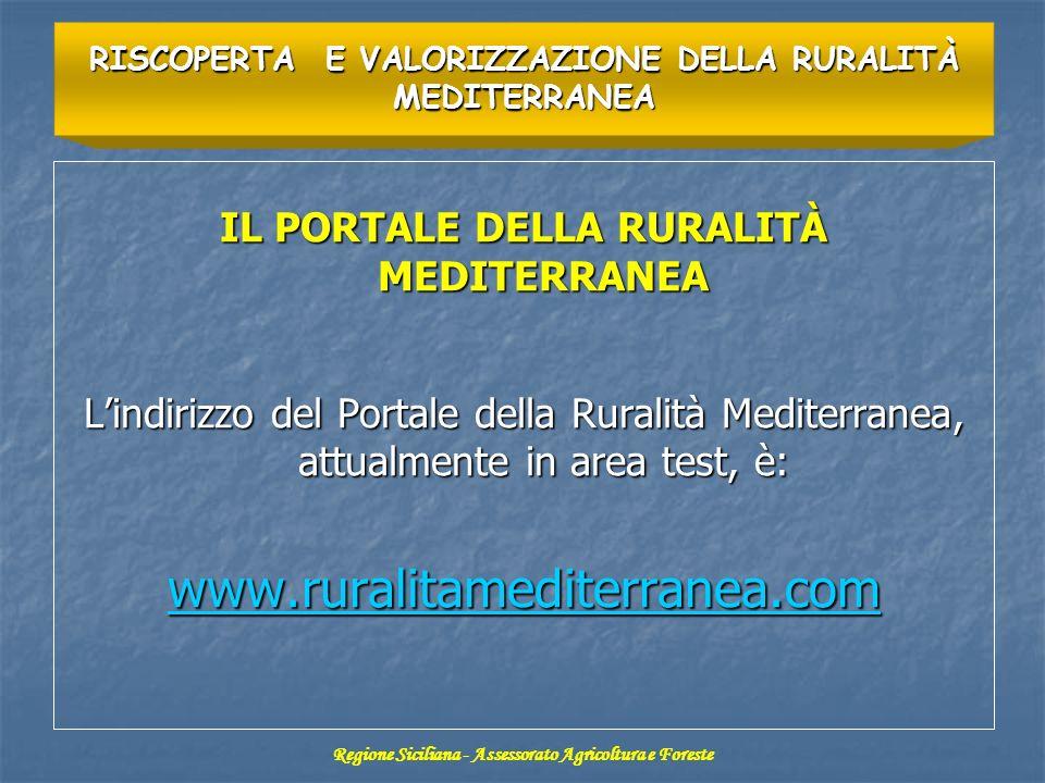 www.ruralitamediterranea.com IL PORTALE DELLA RURALITÀ MEDITERRANEA
