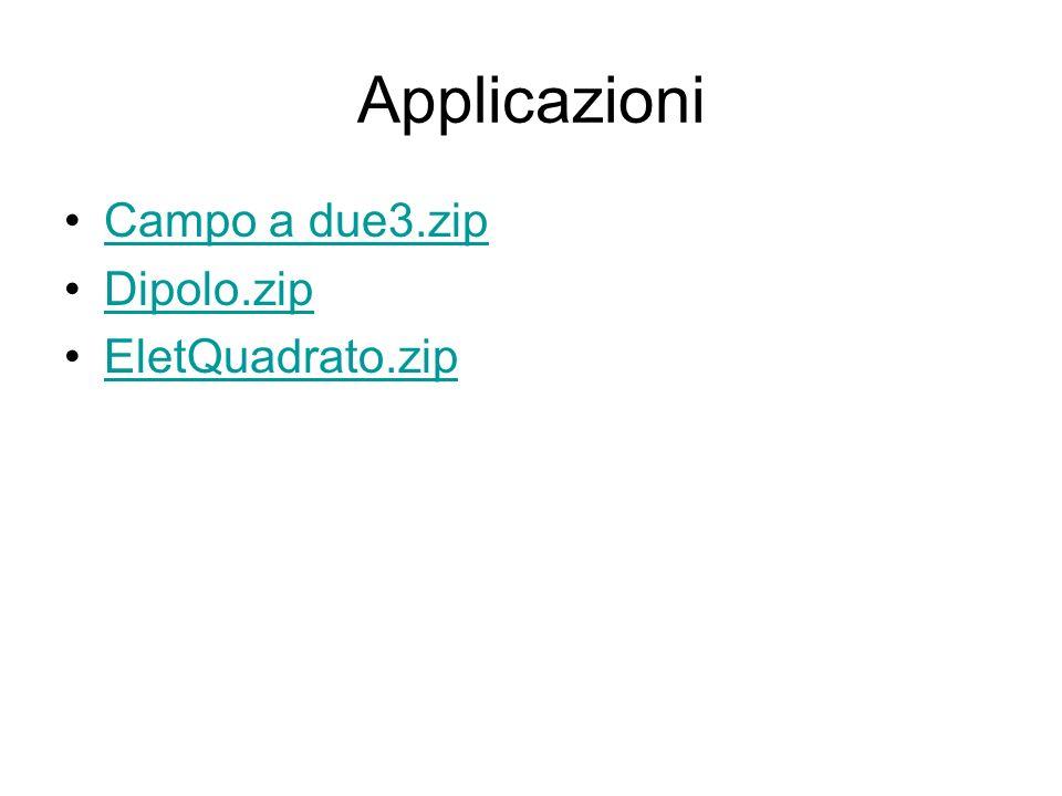 Applicazioni Campo a due3.zip Dipolo.zip EletQuadrato.zip