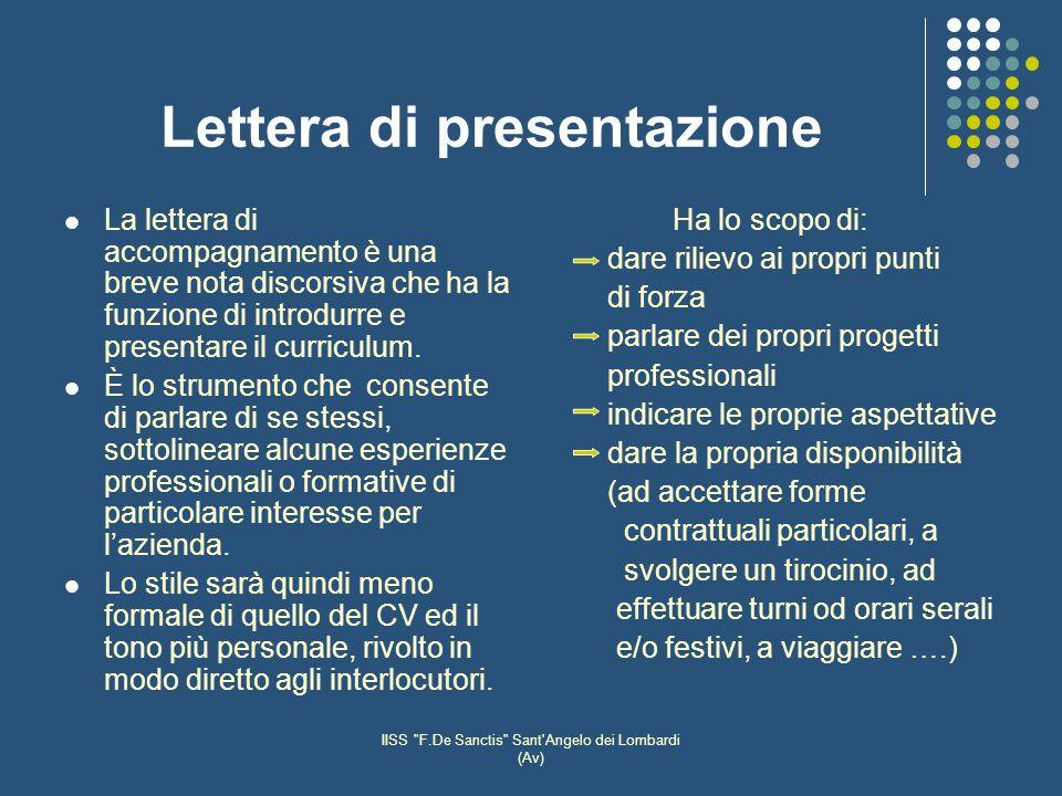 Lettera di presentazione
