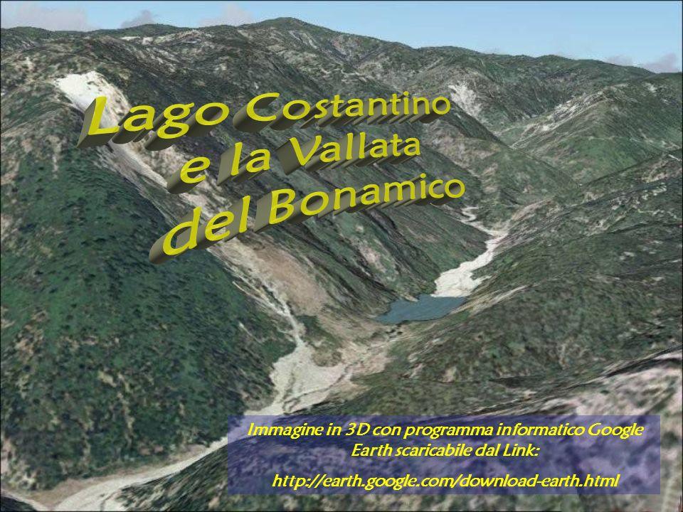 Lago Costantino e la Vallata del Bonamico