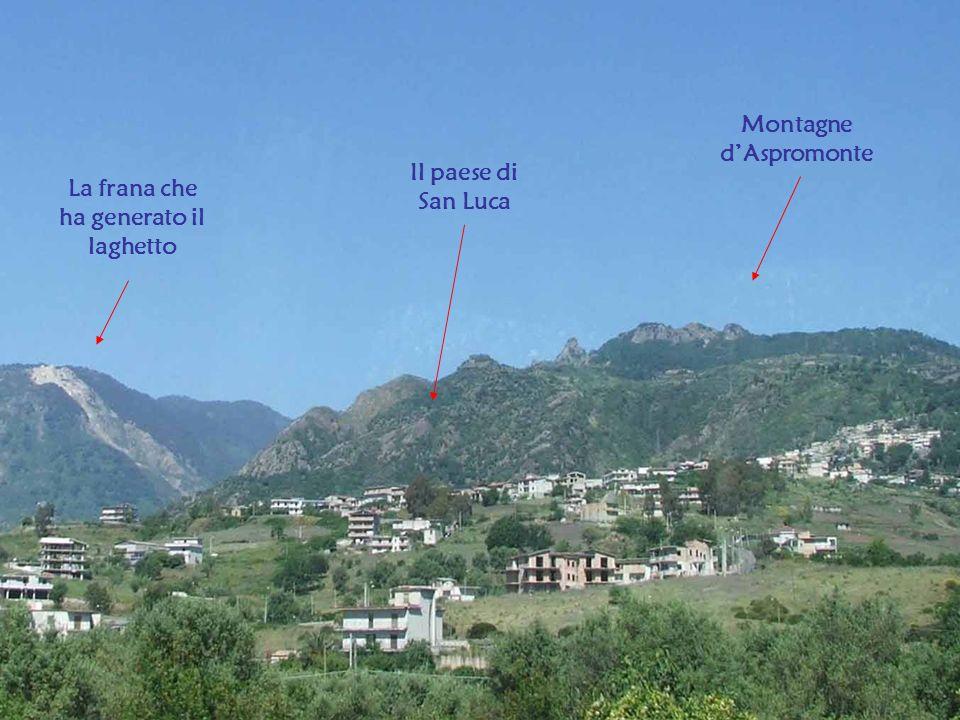 Montagne d'Aspromonte La frana che ha generato il laghetto