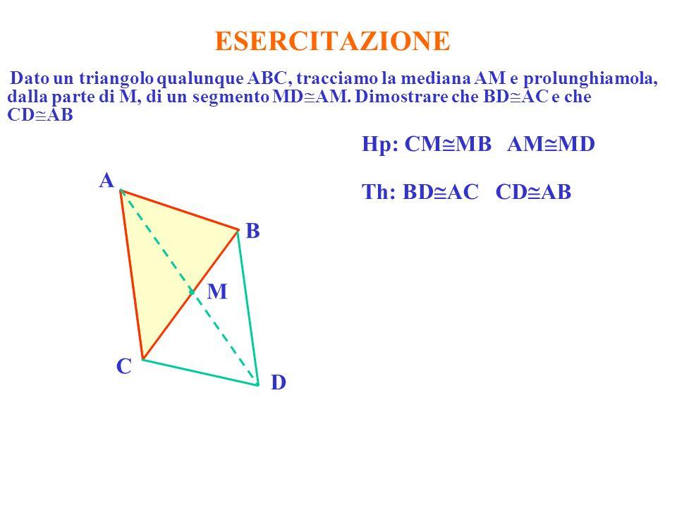 ESERCITAZIONE Hp: CMMB AMMD A Th: BDAC CDAB B M C D