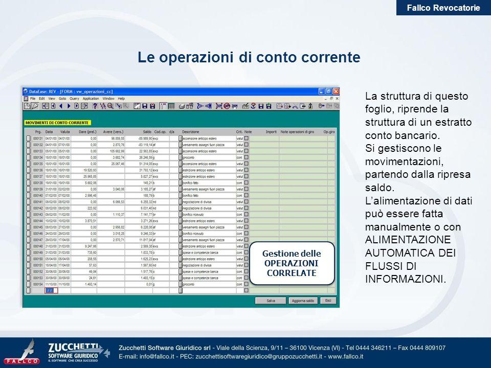 Le operazioni di conto corrente