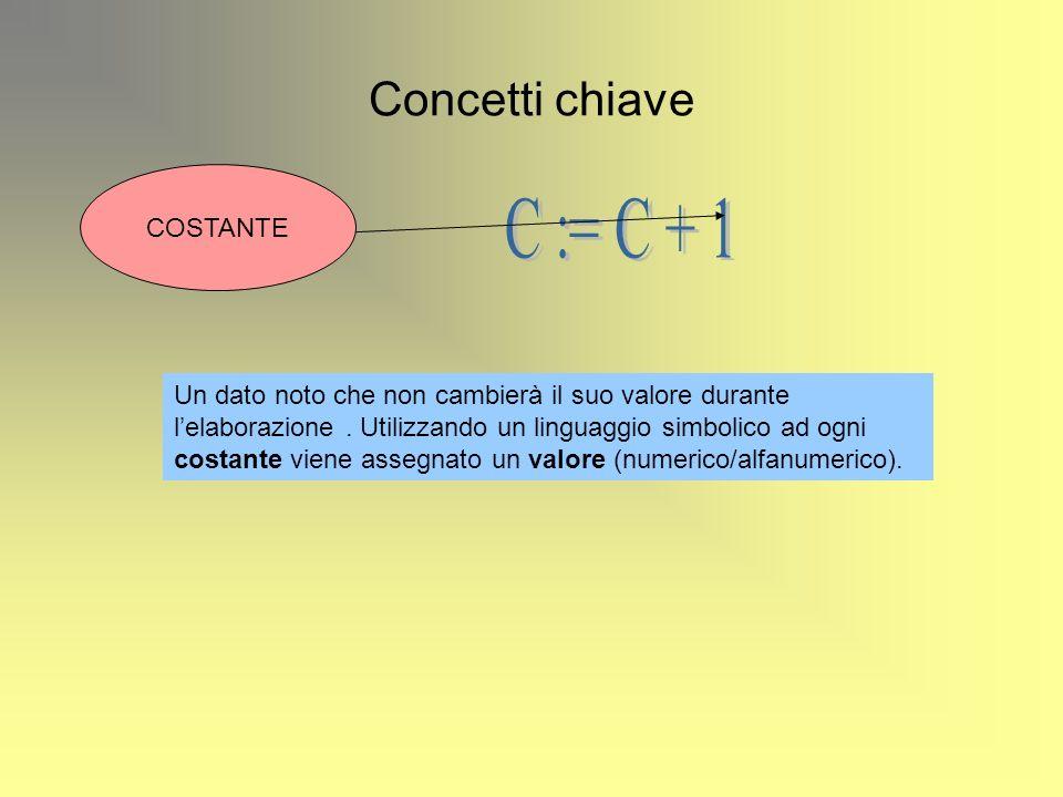 C := C + 1 Concetti chiave COSTANTE