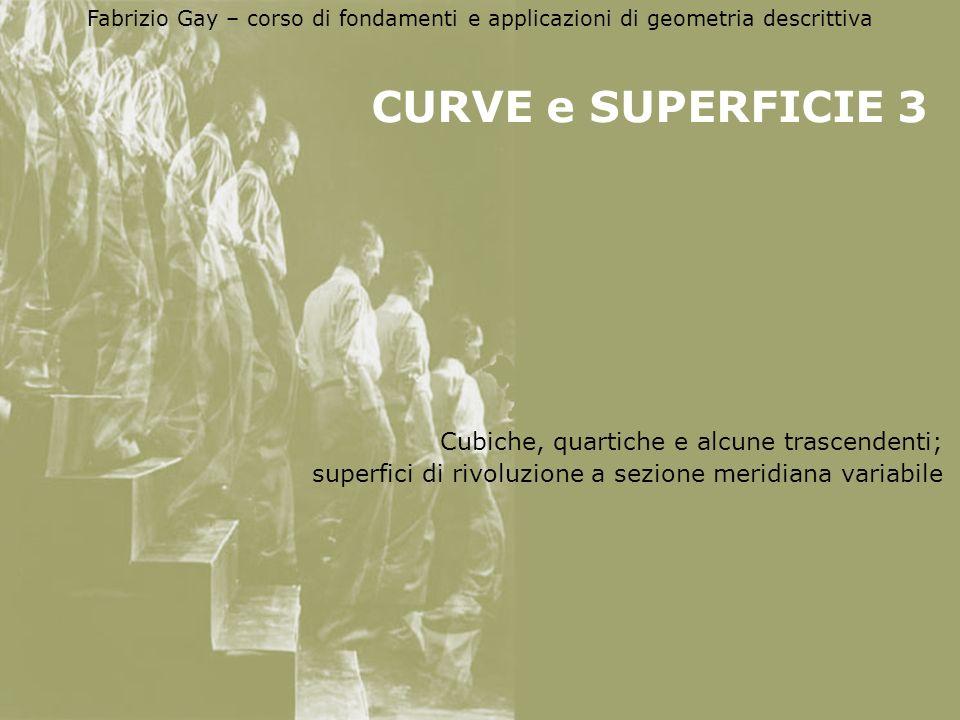 CURVE e SUPERFICIE 3 Cubiche, quartiche e alcune trascendenti;