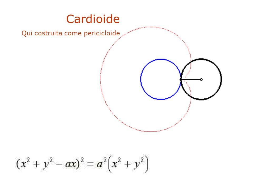 Cardioide Qui costruita come pericicloide . .