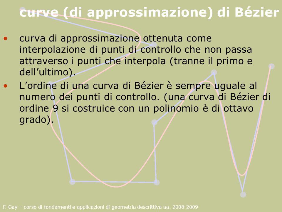 curve (di approssimazione) di Bézier