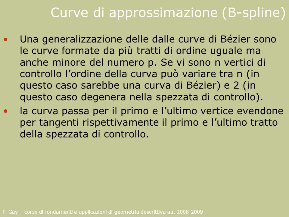 Curve di approssimazione (B-spline)