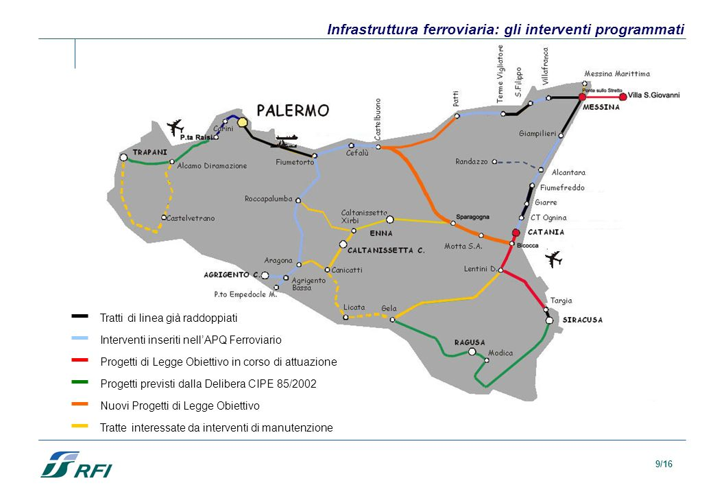Infrastruttura ferroviaria: gli interventi programmati