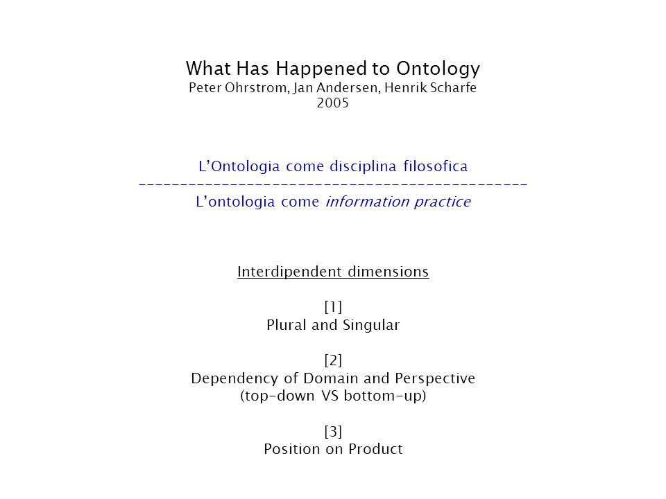 What Has Happened to Ontology