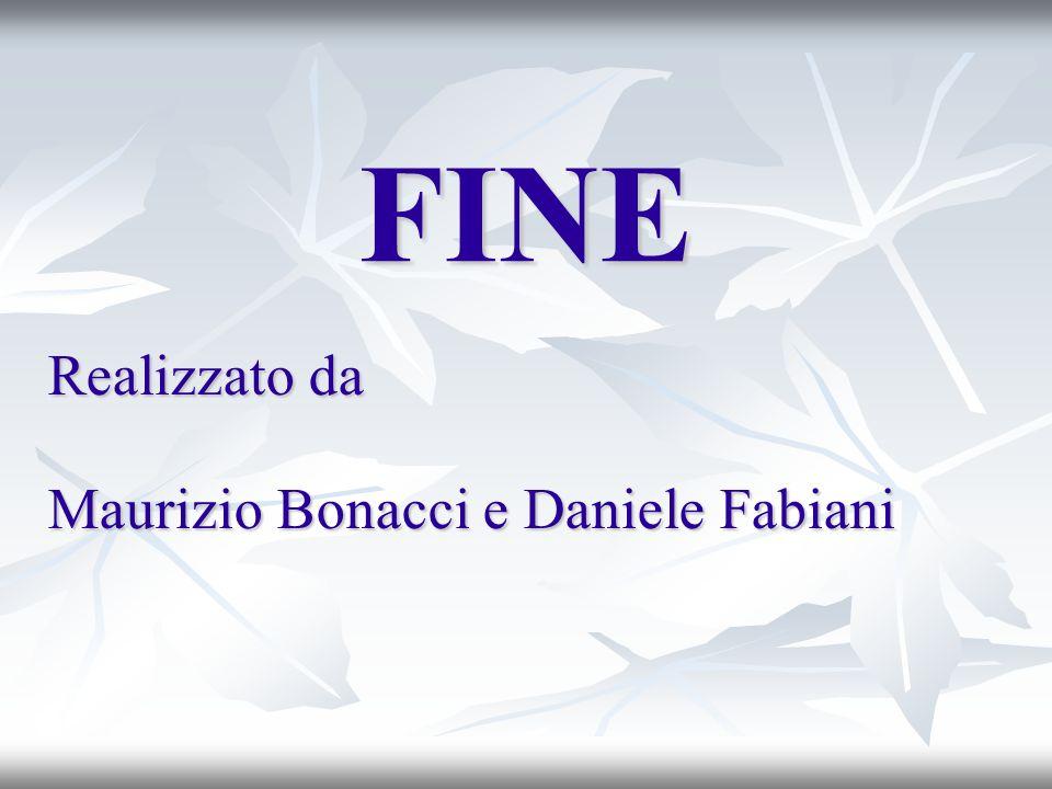 FINE Realizzato da Maurizio Bonacci e Daniele Fabiani