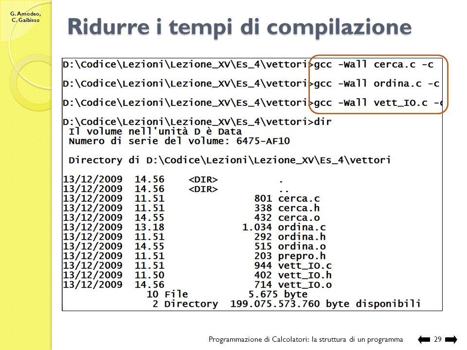 Ridurre i tempi di compilazione